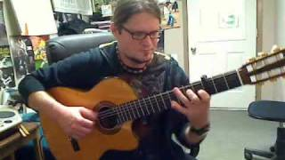 Beethoven Symphony No 5, first movement excerpt - Kelly Valleau Acoustic Guitar