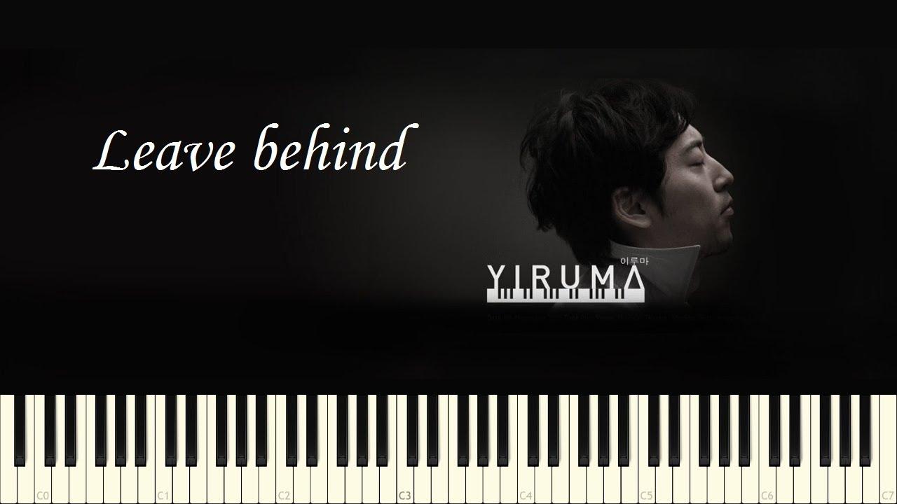 Yiruma: Leave behind - Piano Tutorial - YouTube