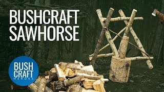 Bushcraft Treehouse 21: Making a Bushcraft Sawhorse and preparing for Winter Camping in Canada