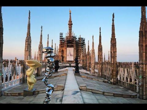 Tony Cragg e le guglie del Duomo di Milano - YouTube