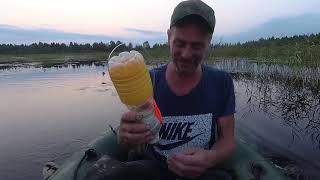 Ловля щуки на бутылки на торфяных разливах и немного спиннинга. Pike fishing on a plastic bottle.