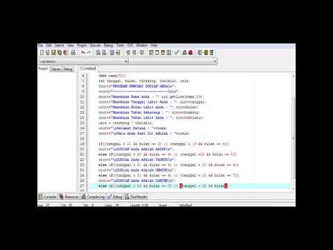 Cara Membuat Program Zodiak C++