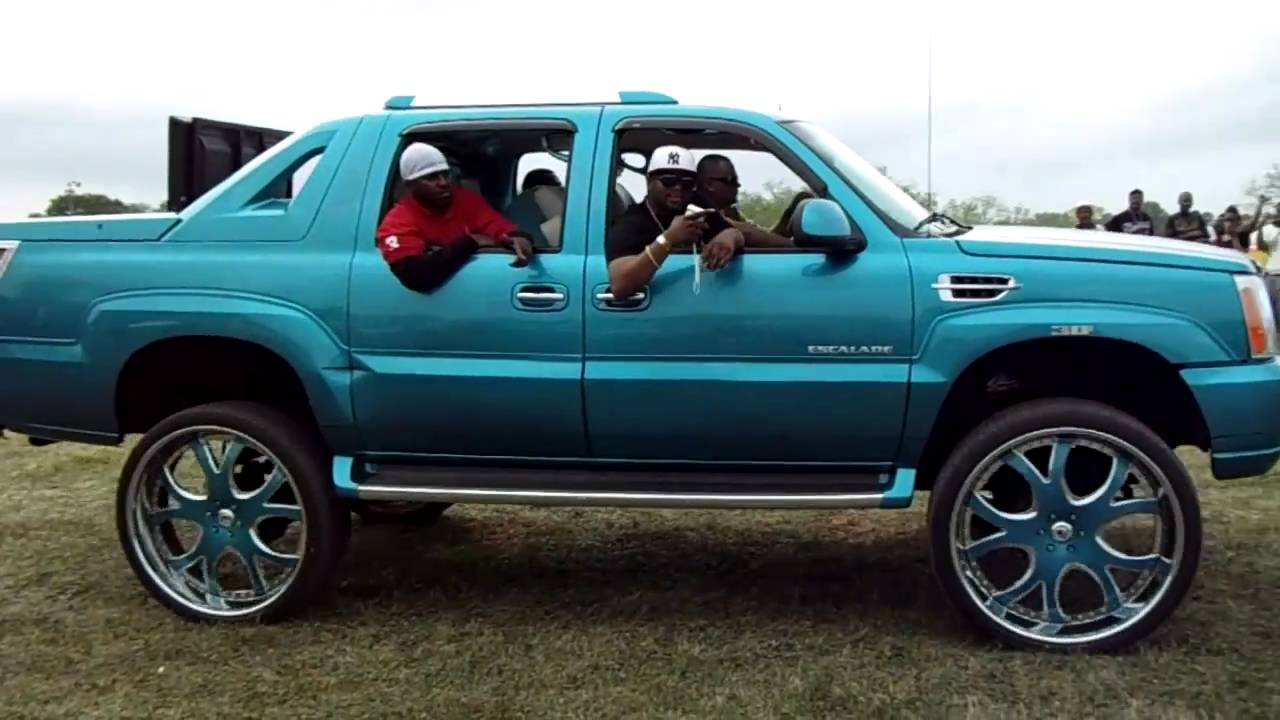 candy teal cadillac escalade ext truck on 30 asantis youtube