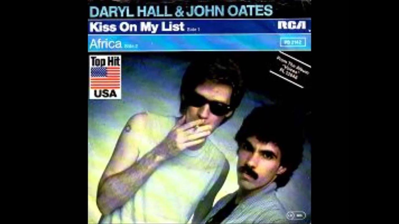 Hall Oates Kiss On My List Youtube