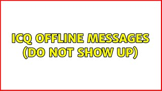 ICQ offline messages (do not s…