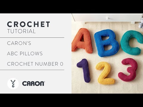 How to Crochet a Number Pillow: Crochet Number 0