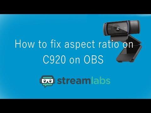 Logitech C920 Streamlabs OBS resolution / Camera lag fix