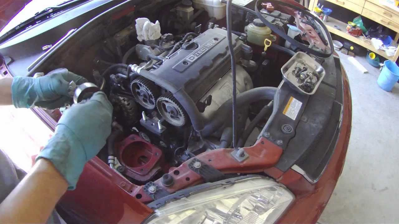 Suzuki Forenza timing belt and water pump replacement part 1 of 2  YouTube