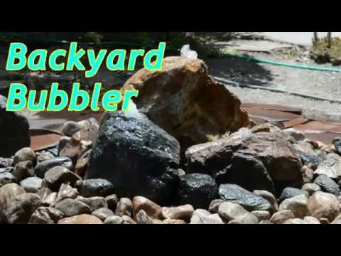Bubbler Rock Fountain Diy