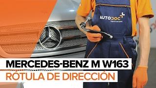 Montaje Rótula de Dirección MERCEDES-BENZ M-CLASS (W163): vídeo gratis