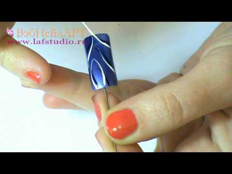 Аквариумны дизайн ногтей 57