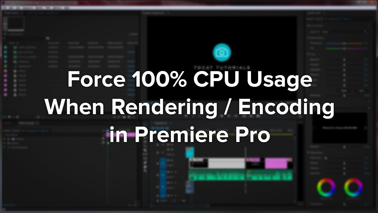 Premiere Pro Force 100 Cpu Usage When Rendering Youtube