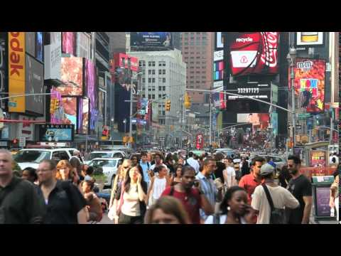 Times Square Crowd People 2 HD Video Background