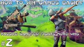Passive win, How to win games easily! (Fortnite Battle Royale) Solo's #2
