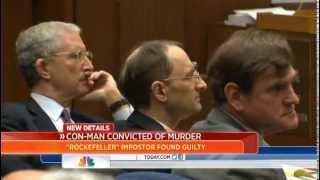 Fake Rockefeller convicted of murder