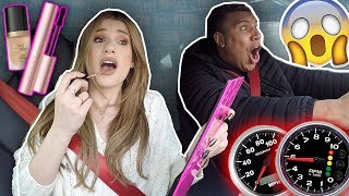 Doing My Makeup in BOYFRIENDS SUPERCAR... omg