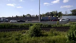 401 traffic as seen from the train