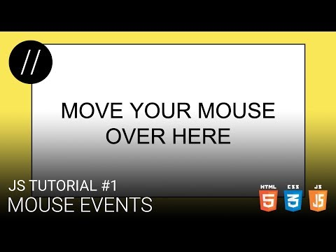 JS Tutorial #1 — Mouse Events [UP/TO/DATE] thumbnail