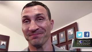 Wladimir Klitschko Talks About the Induction of Vitali into The Hall of Fame