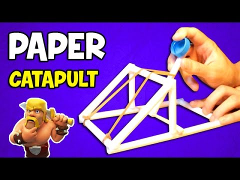 How to make a catapult easy paper weapons youtube for How to make useful things from paper
