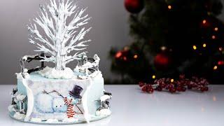 НОВОГОДНИЙ ТОРТ Зимнее оформление торта
