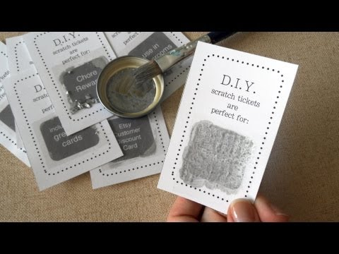 How To Make DIY Scratch Card Easy Tutorial