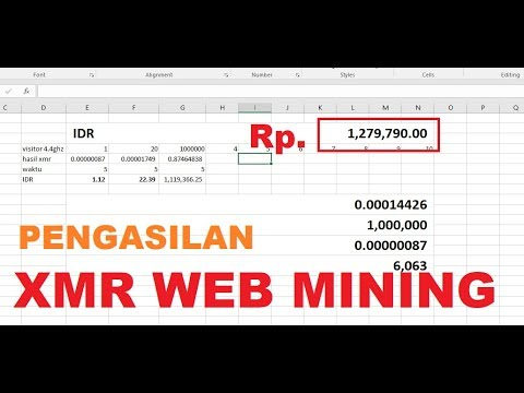 Mining Dengan Webiste Coinhive Review 1JT PERHARI! [Indonesia]
