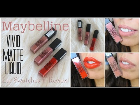 maybelline-vivid-matte-liquid-colors-|-lip-swatches,-demo,-&-review-|-chaitimewithmeesha