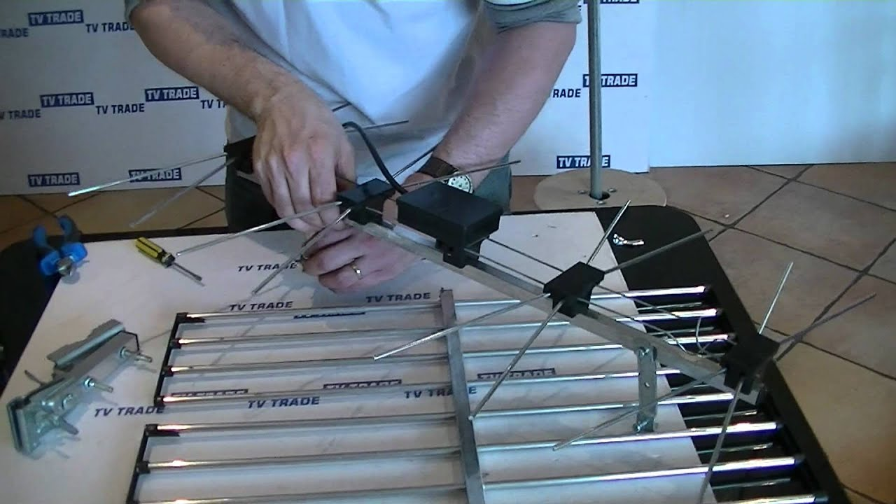 High Gain Wideband Uhf Grid Tv Aerial How To Wire Assemble Youtube Yagi Antenna Wiring Diagram