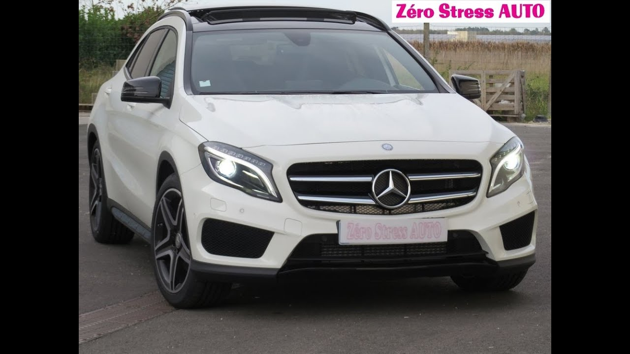 new mercedes gla 220 d 170 7 dgt 2015 fascination pack amg cdi zerostressauto youtube. Black Bedroom Furniture Sets. Home Design Ideas