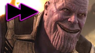 Infinity War but every time Thanos is on screen the movie gets faster