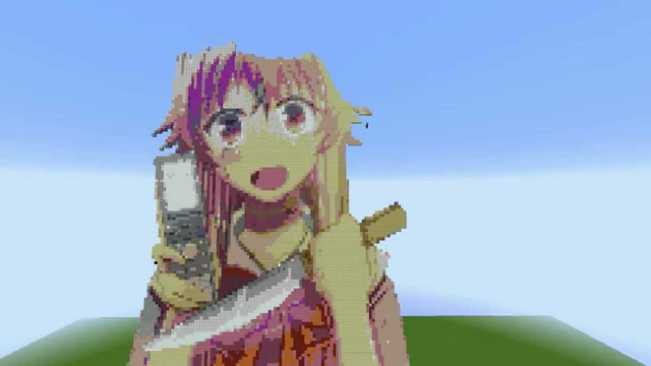 Minecraft Timelapse Gasai Yuno YouTube