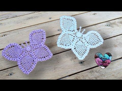 Papillons relief crochet napperon magnifique