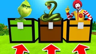Minecraft PE : DO NOT CHOOSE THE WRONG CHEST! (Grinch, Anaconda & Ronald Mcdonald)