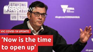 Daniel Andrews announces an end to lockdowns as cases plummet | SBS News