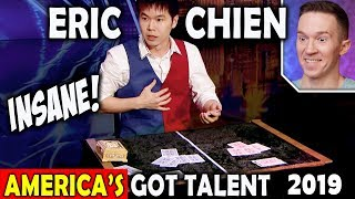 Magician REACTS to Eric Chien Ribbon Act on America's Got Talent 2019