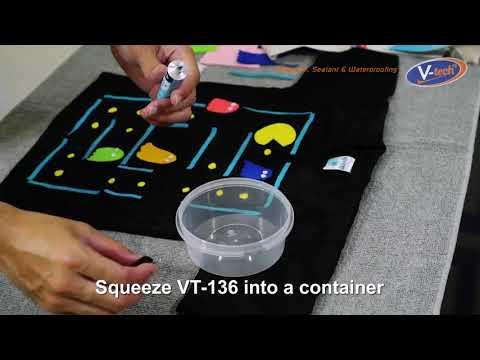 Glue Pacman Graphic on T-shirt (VT-136)