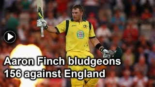 Aaron Finch's destroys England with a breathtaking 156: An analysis