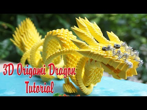 HOW TO MAKE 3D ORIGAMI CHINESE DRAGON | DIY PAPER DRAGON TUTORIAL