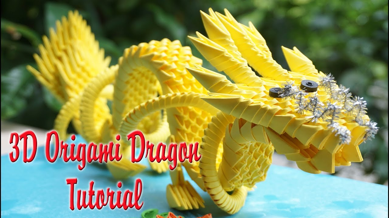 How To Make 3d Origami Chinese Dragon Diy Paper Tutorial Instructions Diagram
