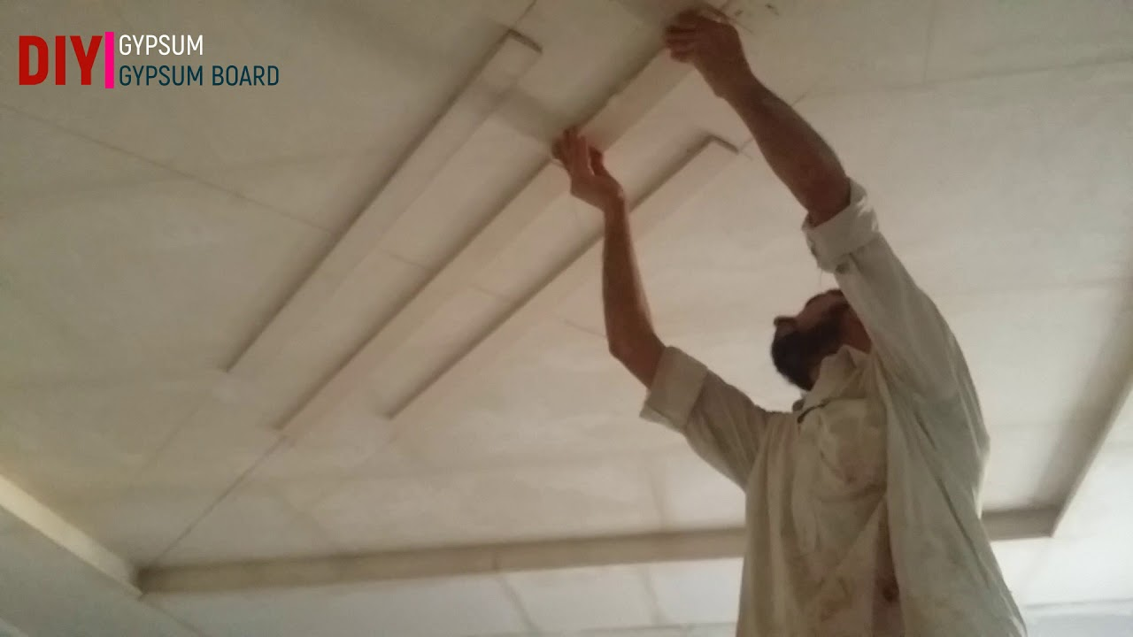Diy How To Make False Ceiling At Home Bed Room Ceiling Diy Gypsum Gypsum Board Youtube