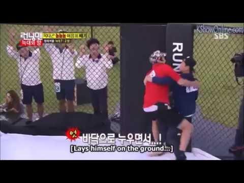Running Man Kang Gary nametag tearing skills 3