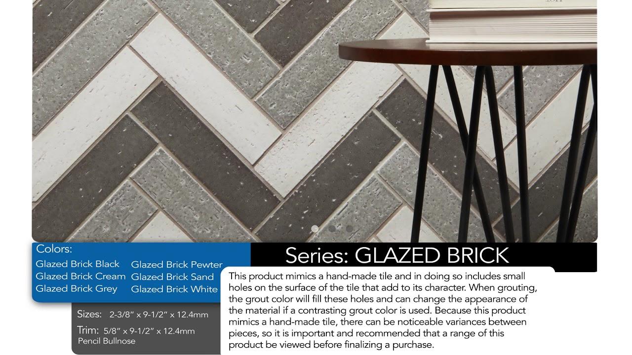 glazed brick ceramic series
