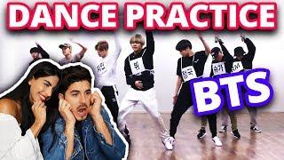 REACCIONANDO A BTS DANCE PRACTICE POR PRIMERA VEZ