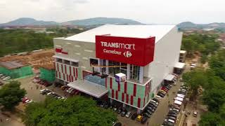 Progress Transmart Lampung by drone shoot
