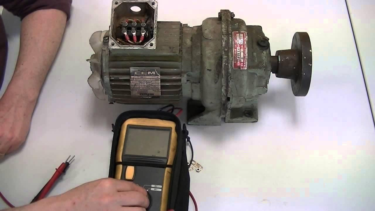 Contr le des bobinages d 39 un moteur asynchrone l 39 aide d for Controler un condensateur avec un multimetre