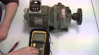 Contrôle des bobinages d'un moteur asynchrone à l'aide d'un megohmètre