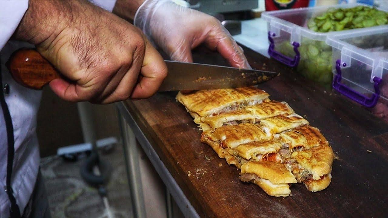 Kıymalı Tost Yapılışı-Nusret Bile Bekarın Mutfağında yiyor