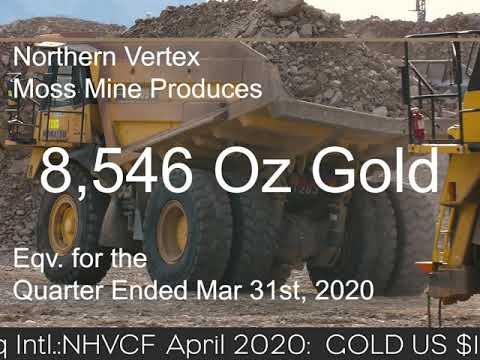 NORTHERN VERTEX REPORTS PRODUCTION RESULTS AND IMPROVEMENT INITIATIVES AT MOSS GOLD MINE IN ARIZONA