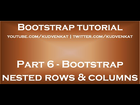 Bootstrap Nested Rows And Columns